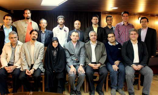 عکس جمعی روزنامه نگاران علم در  پاییز سال 91