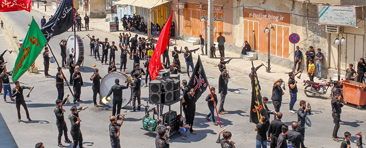 گزارش عزاداری روز عاشورا حسینی در شهر بردخون 1398/1441