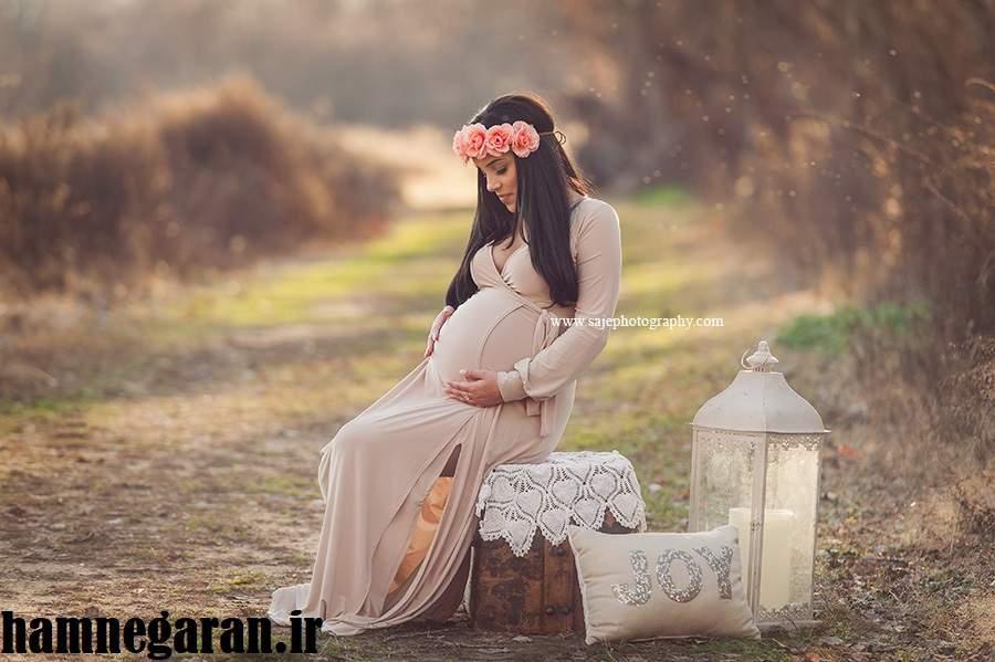 عکس بارداری در طبیعت