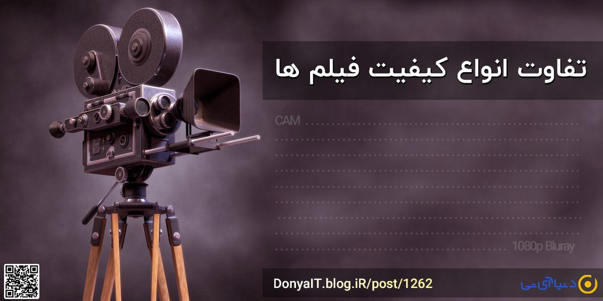 تفاوت انواع کیفیت فیلم