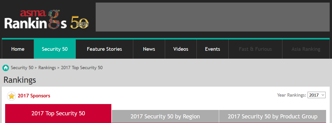 security 50 ranking