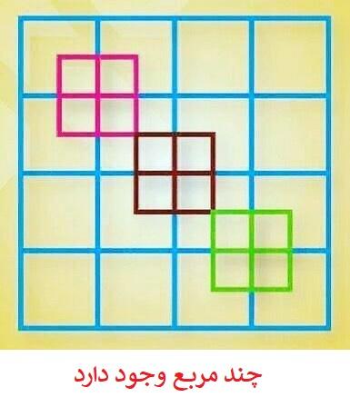 حل هوش تصویری چند مربع وجود دارد؟
