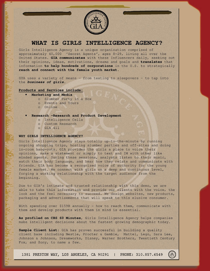 girls intelligence agency