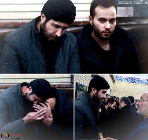 اشک های فرزند شهید سلیمانی در کنار فرزند شهید احمد کاظمی