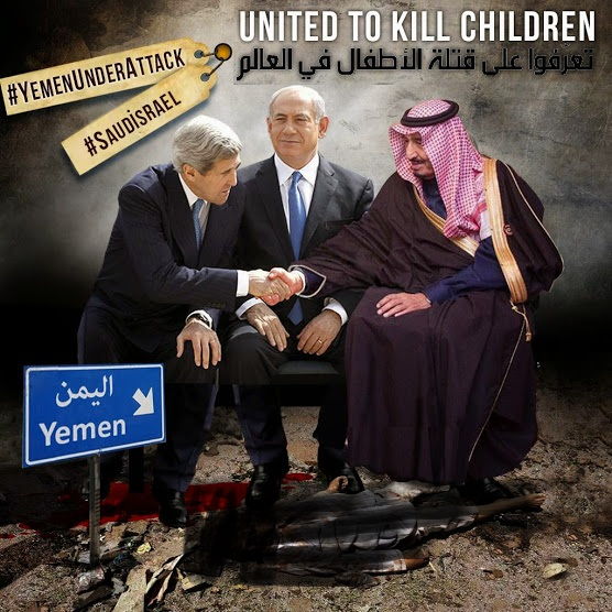 Children killers, stop war on yemen
