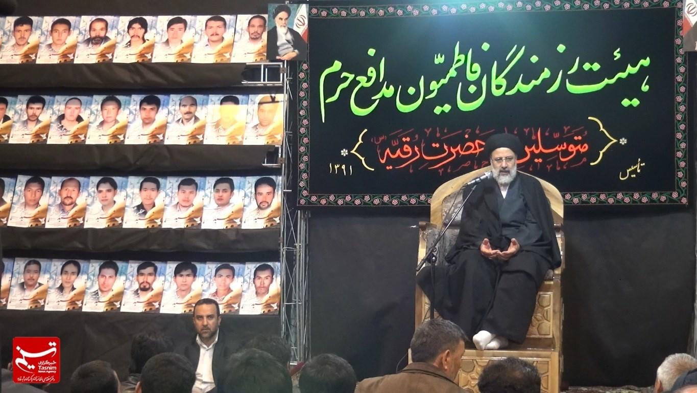 حضور تولیت آستان قدس رضوی در جمع عزاداران هیئت فاطمیون مدافعان حرم