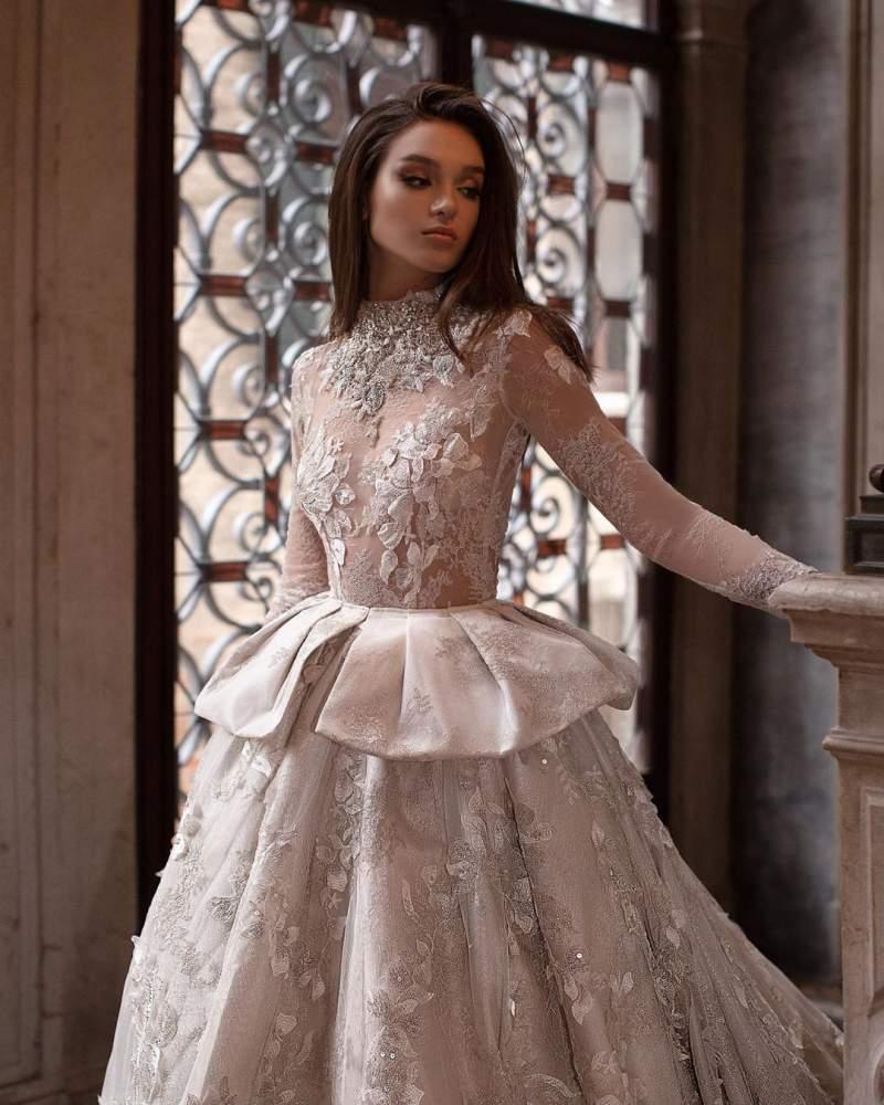 زیبا ترین  لباس عروس پرنسسی ژورنالی 2019