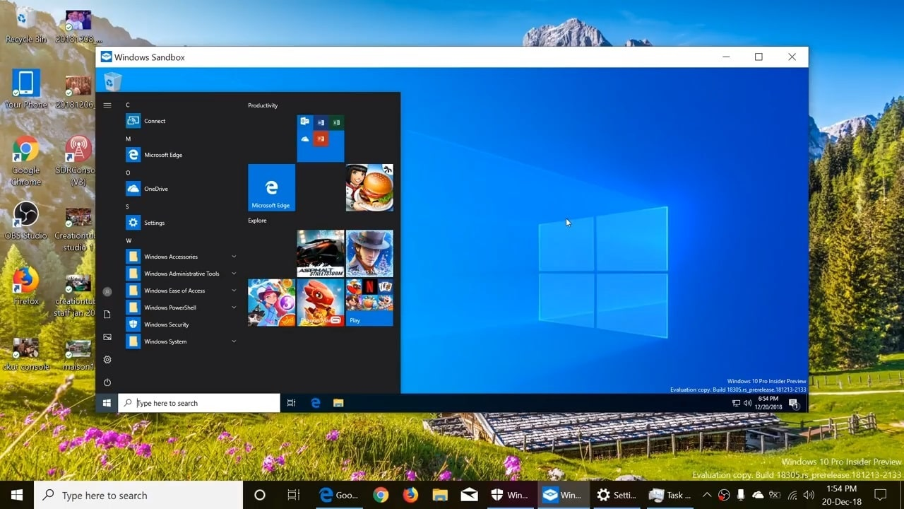 آموزش استفاده از Windows Sandbox در ویندوز 10