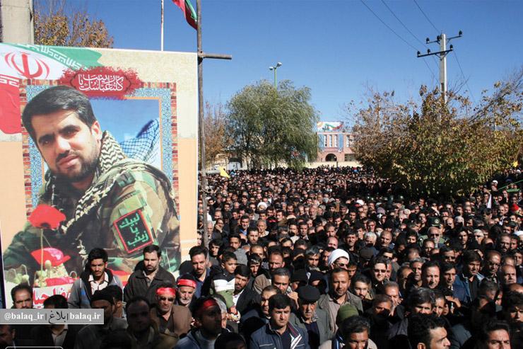 تشییع بینظیر پیکر شهید مدافع حرم علیرضا جیلان در بروجن