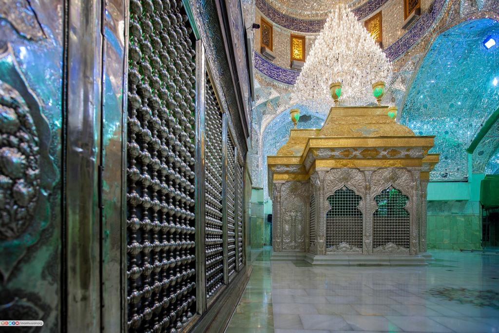 ضریح شش گوشه اباعبدالله الحسین علیه السلام و سایر شهدای دشت کربلا