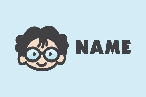 Geek-Nerd-Otaku-Kid-Cartoon-Logo