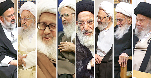 حجت الاسلام و المسلمین رئیسی با مراجع عظام تقلید دیدار کرد
