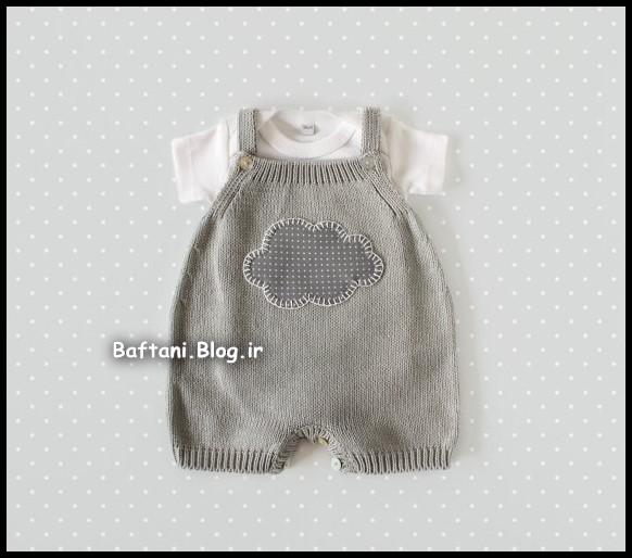 لباس نوزاد بافتنی پسرانه