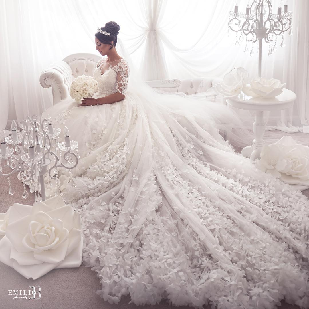 جدیدترین لباس عروس پوشیده 2019