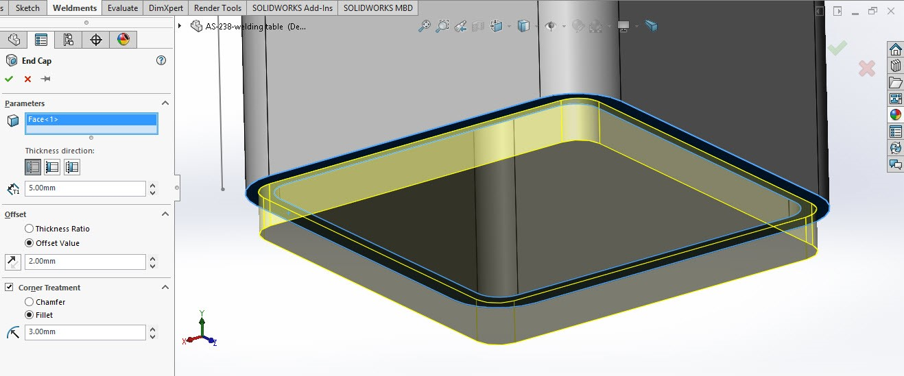 Solidworks weldment and structure 3