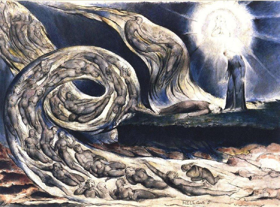 گردباد عشّاق - ویلیام بلیک - The Lovers Whirlwind - William Blake