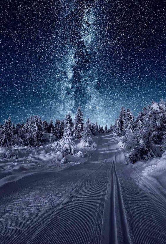 عکس از منظره برفی برای صفحه موبایل