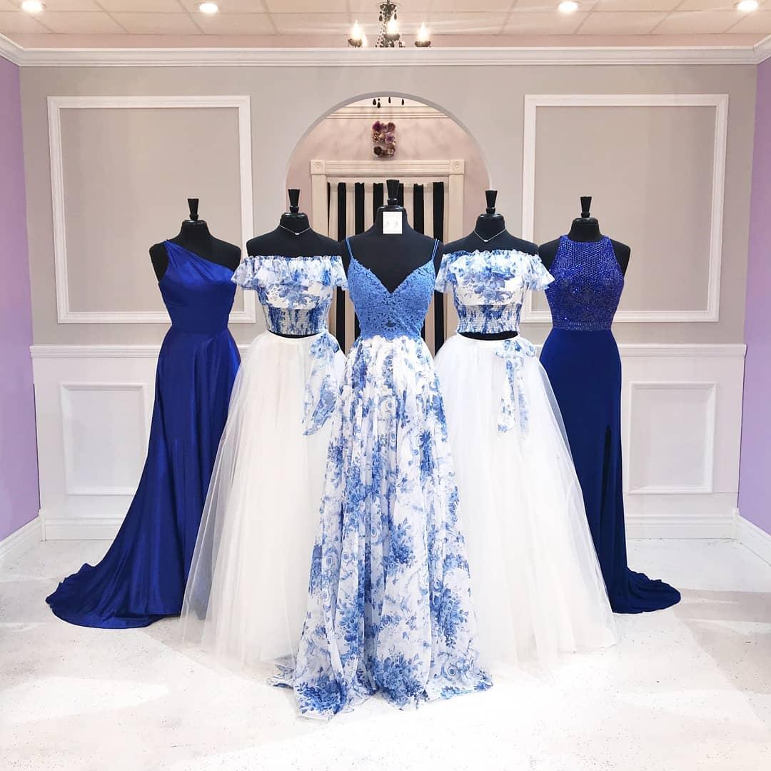 ست آبی سفید دخترانه ساقدوش عروس