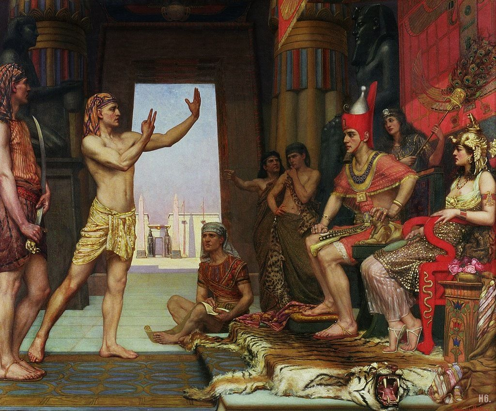 Joseph interpreting the Pharaoh's Dream by Reginald Arthur