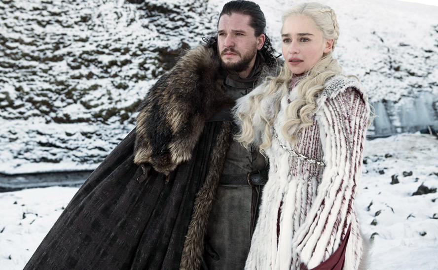 Jon Snow (Kit Harington) and Daenerys Targaryen (Emilia Clarke)