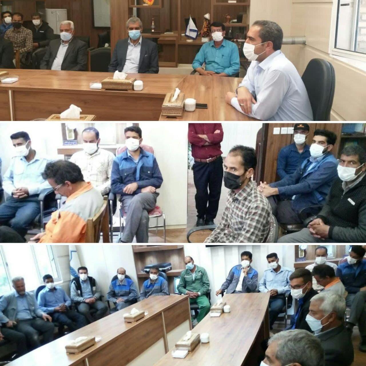 تقدیر و تشکر  از کارگران خدوم و زحمتکش شهرداری وزوان به مناسبت روز جهانی کار و کارگر