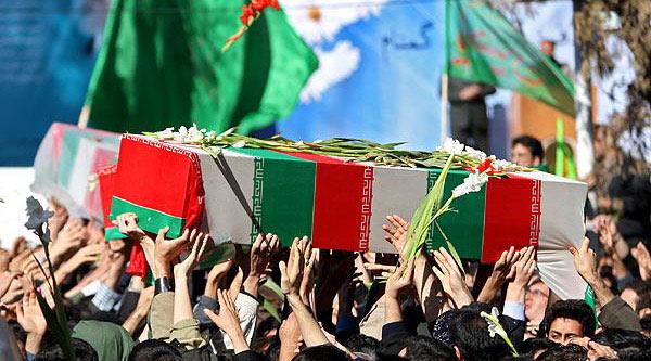مراسم تشییع و تدفین ٣ شهید گمنام دفاع مقدس در بوستان نهج البلاغه