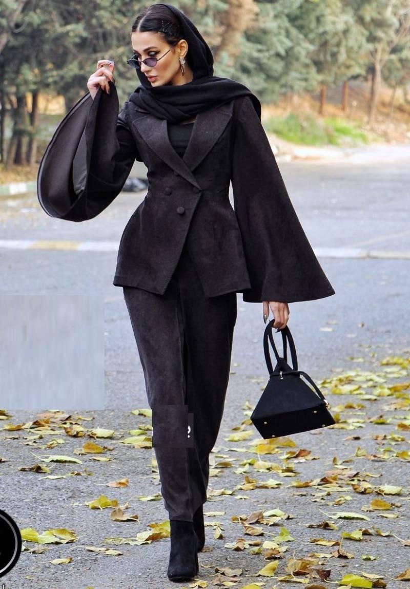 مدل مانتو پاییزی مخمل کوتاه دخترونه جدید سال 98