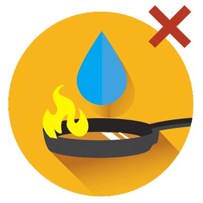 آموزش خاموش کردن آتش روغن داغ