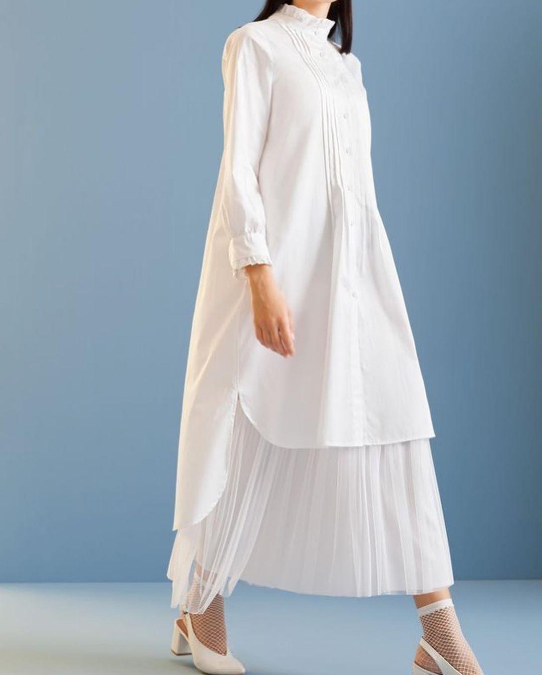 مدل مانتو تابستانی دخترانه ساده با پارچه نخی و خنک
