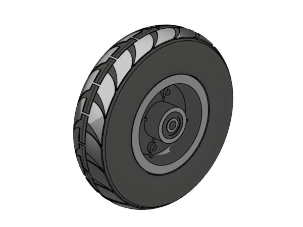 فایل سه بعدی چرخ اسکوتر برقی
