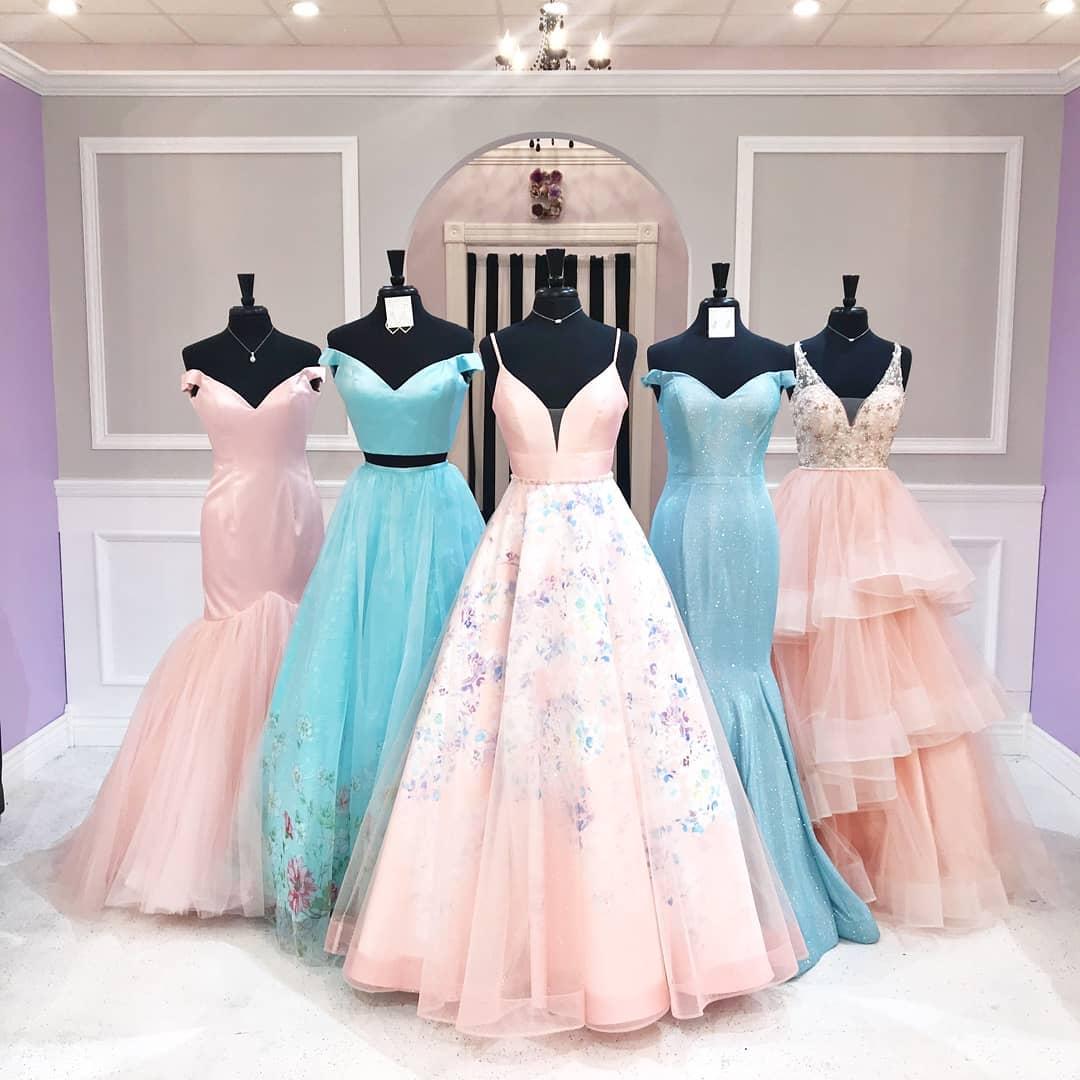 مدل جدید لباس ساقدوش عروس آبی و صورتی کاملا دخترانه