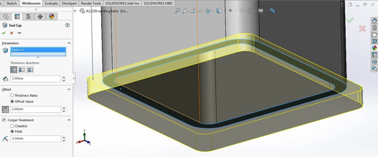 Solidworks weldment and structure 4