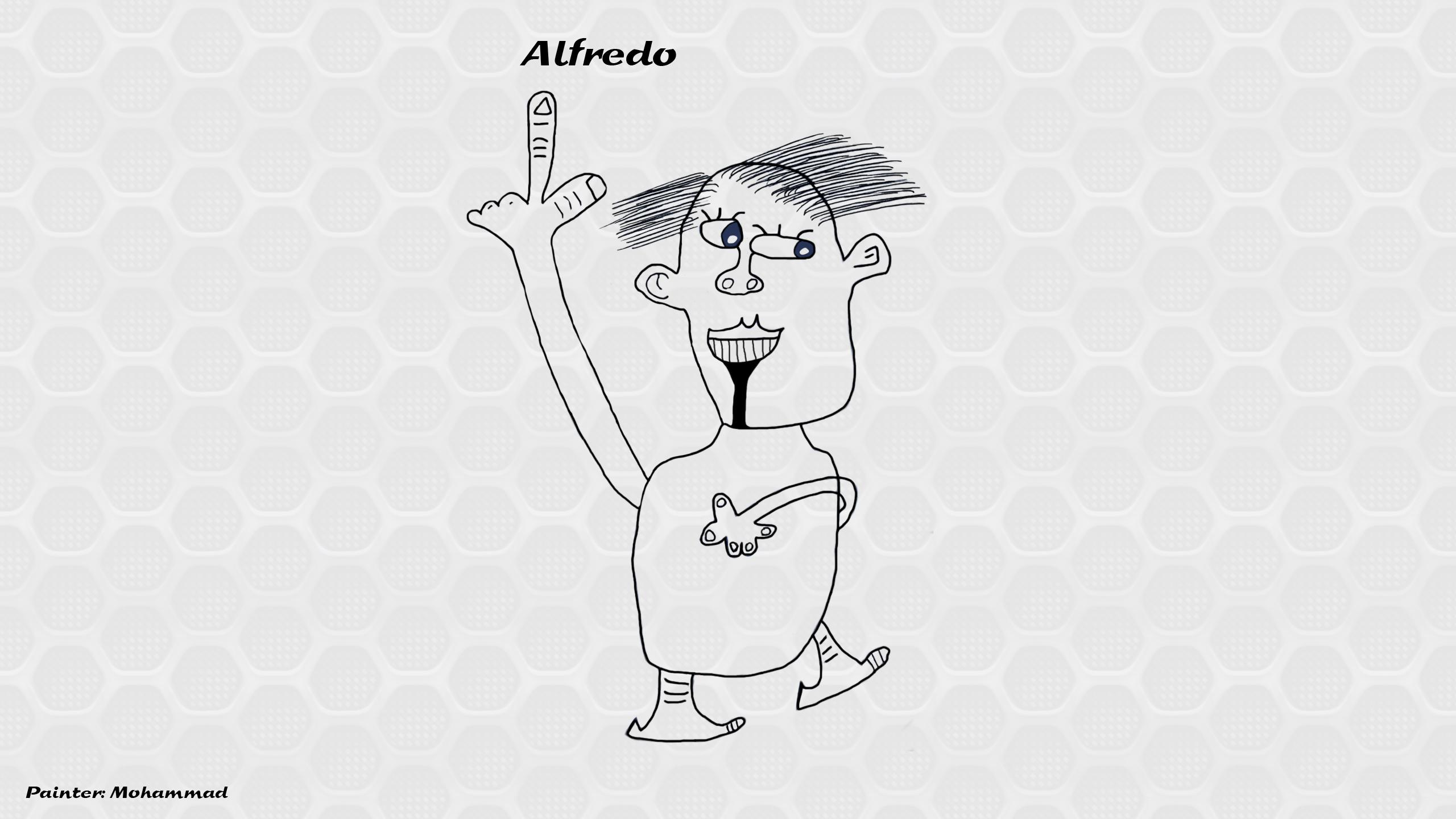 کاریکاتور آلفردو