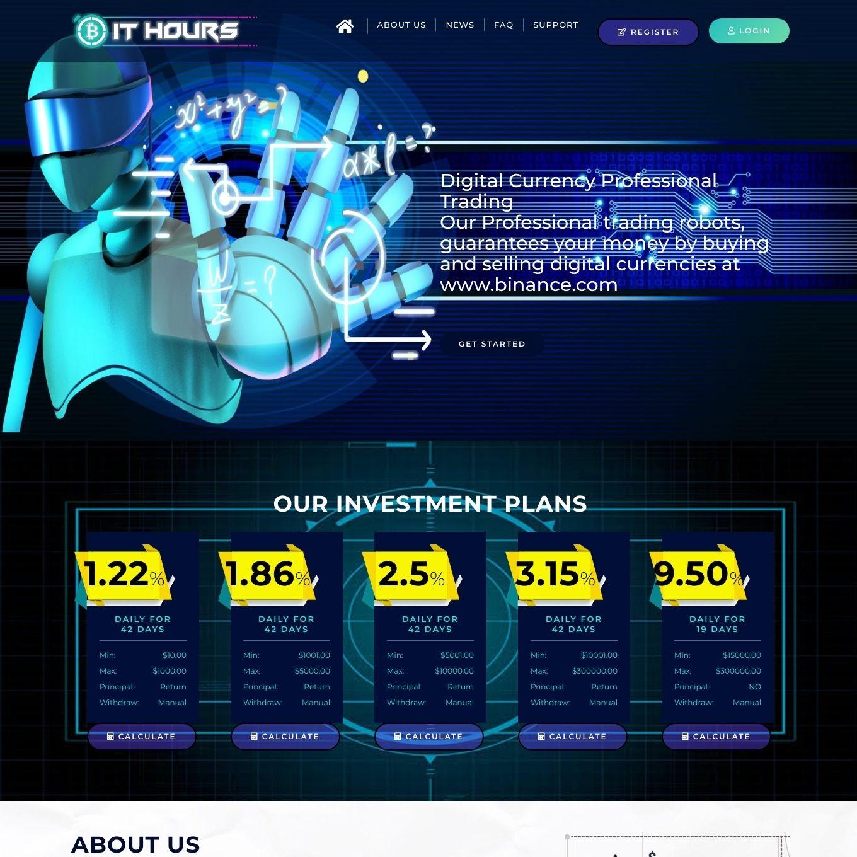 سایت سرمایه گذاری BitHours