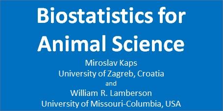 کتاب کاربرد آمار زیستی در علوم دامی Biostatistics for Animal Science