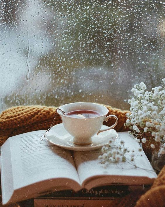استوری اینستاگرام فنجان چای در پاییز