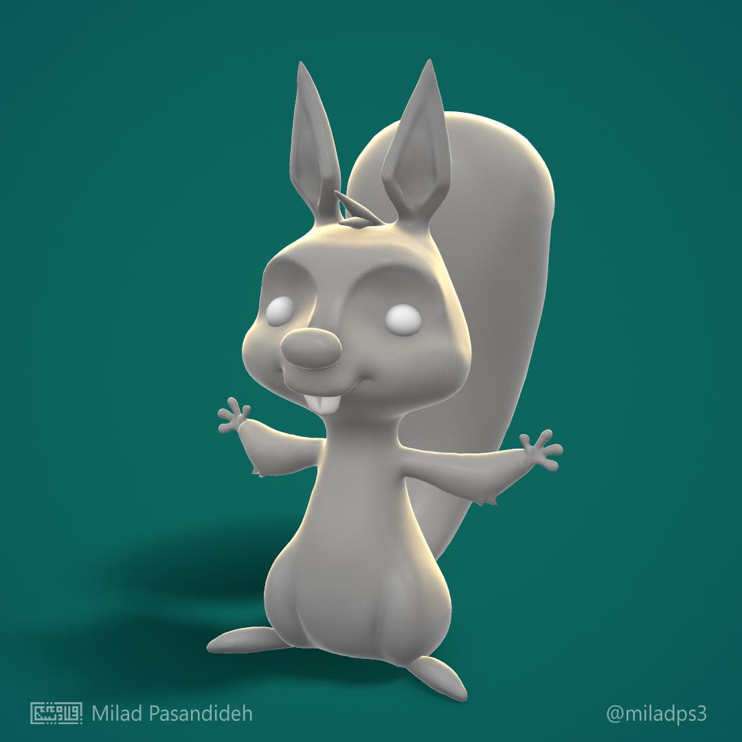 دانلود مدل سه بعدی سنجاب حیوانات رایگان مارلیک استودیو download squirrel 3d model free marlikstudio