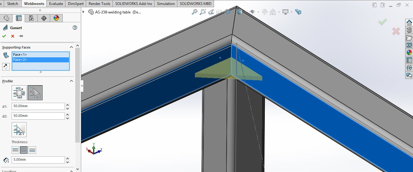 Solidworks structure