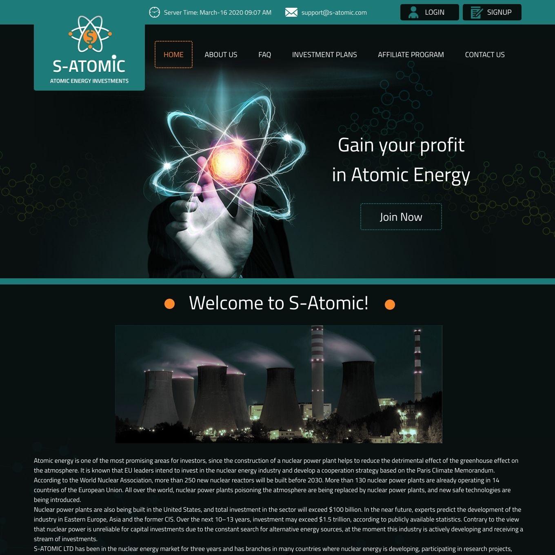 سایت سرمایه گذاری S-Atomic