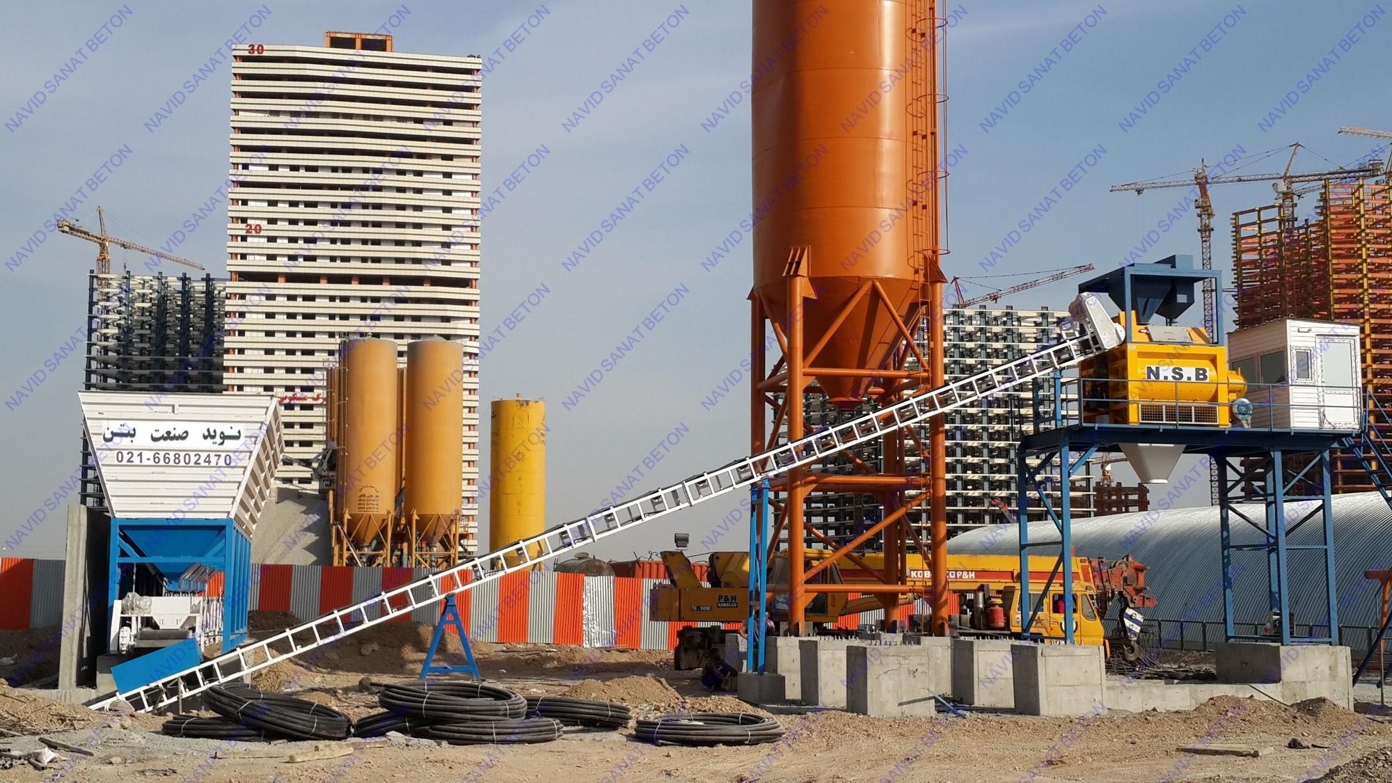 فروش بچینگ پلانت توئین شفت از نیم متر مکعب الی 4 متر مکعب در ساعت ...بچینگ پلانت یک متری توئین شفت N.S.B