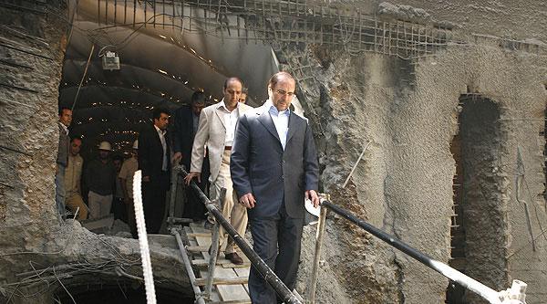 مراسم آغاز حفاری دستگاه حفاری تونل مترو