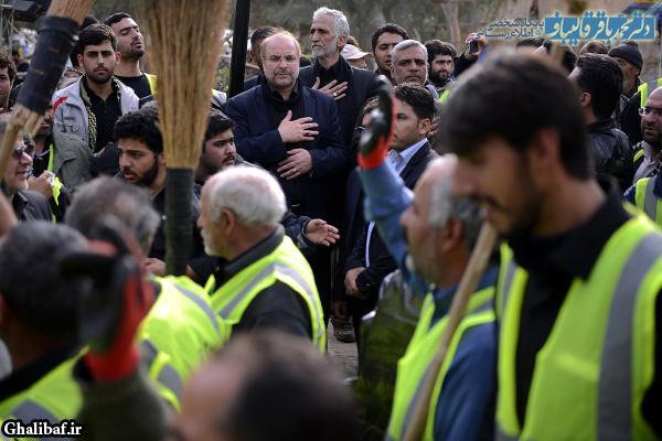 سفر دکتر محمدباقر قالیباف به کربلا و حضور در حمع داوطلبان خدمات رسانی به زائران اربعین