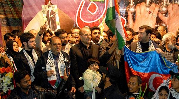 مراسم استقبال از کاروان آسیایی دفاع از مردم غزه
