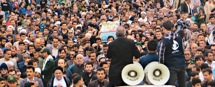 گلچینی از تصاویر مراسم استقبال و تشیع شهدای گمنام شهر بردستان