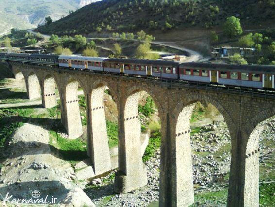 پل راه آهن آب شباندر