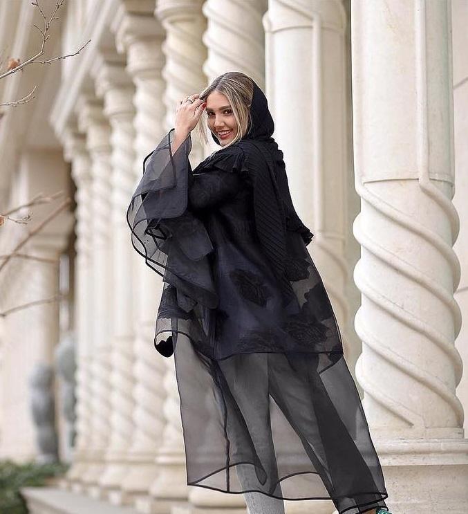 مدل مانتو ارگانزا با تور ارگانزا چند لایه مجلسی و دخترونه