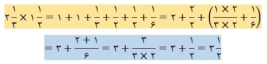 ضرب اعداد مخلوط توسط شکل