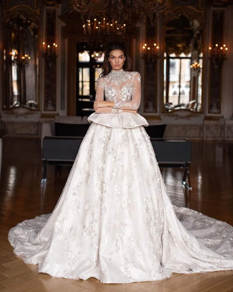 لباس عروس 2019 تور پرنسسی