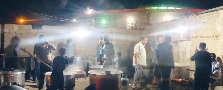 پخت غذای هریسه در بردخون (جهت نزول باران) +تصاویر