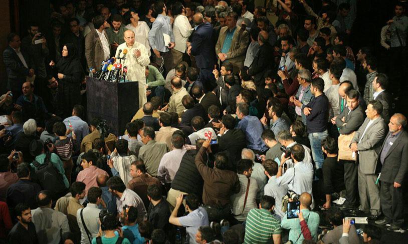 سخنرانی دکتر قالیباف در اجتماع پرشور معلمان، کارگران و اقشار